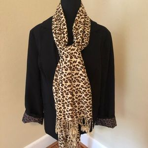 Long leopard print scarf